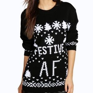 Festive AF ugly Christmas sweater m/l brand new